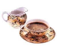 Кофе чашка молочник